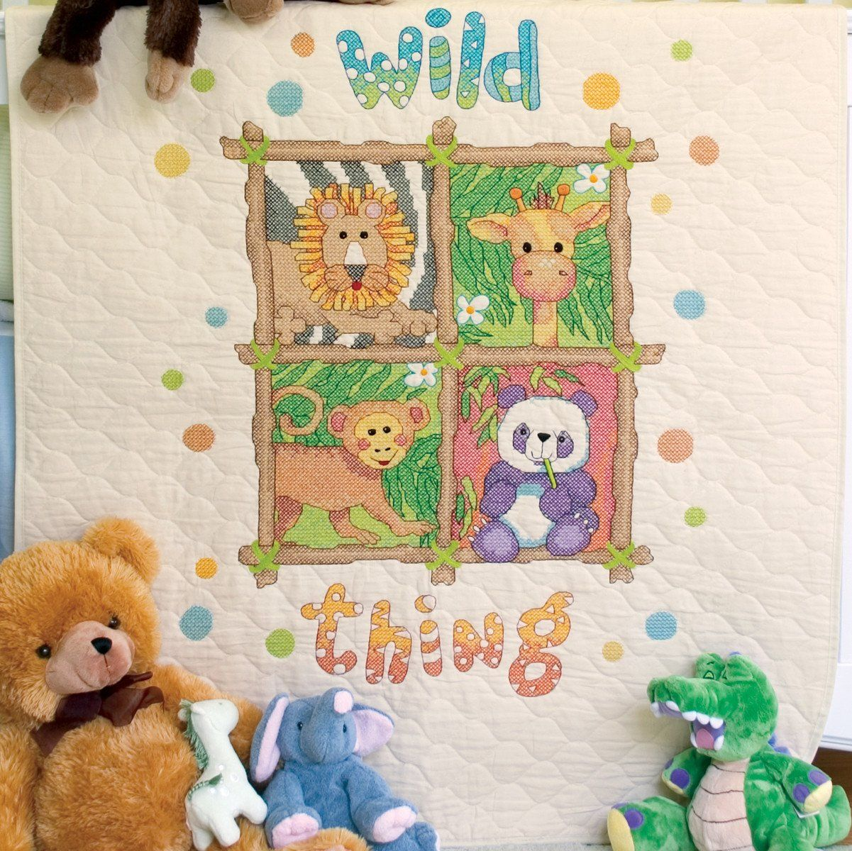 Image of: Cross Stitch Baby Quilts Disney Kit