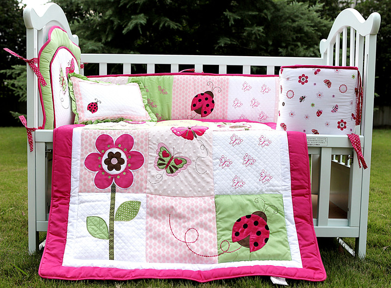 Image of: Cute Baby Girl Quilt Kits