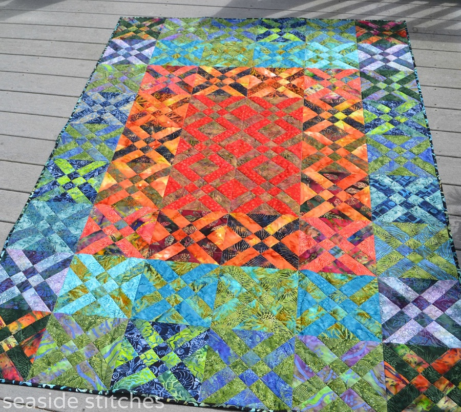 Image of: Cute Batik Quilt Patterns