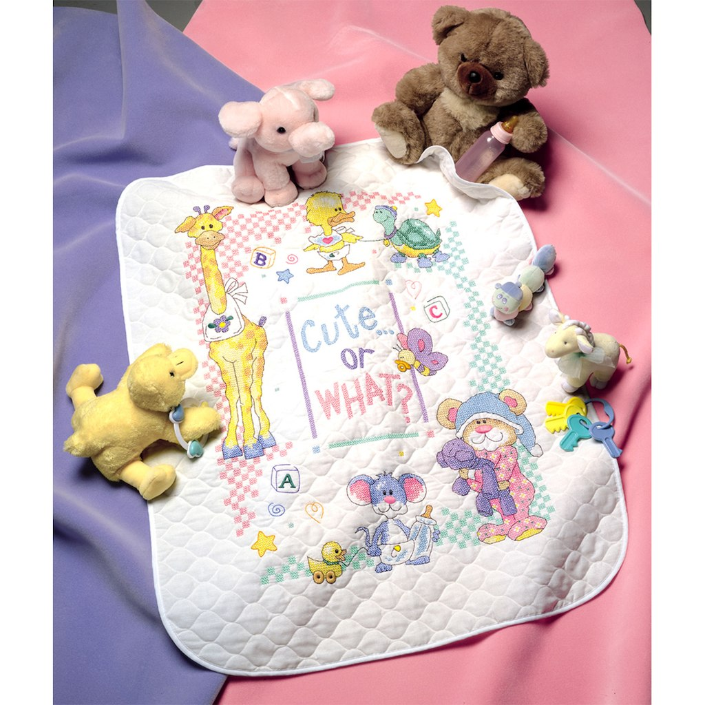 Image of: Cute Cross Stitch Baby Quilt Kits
