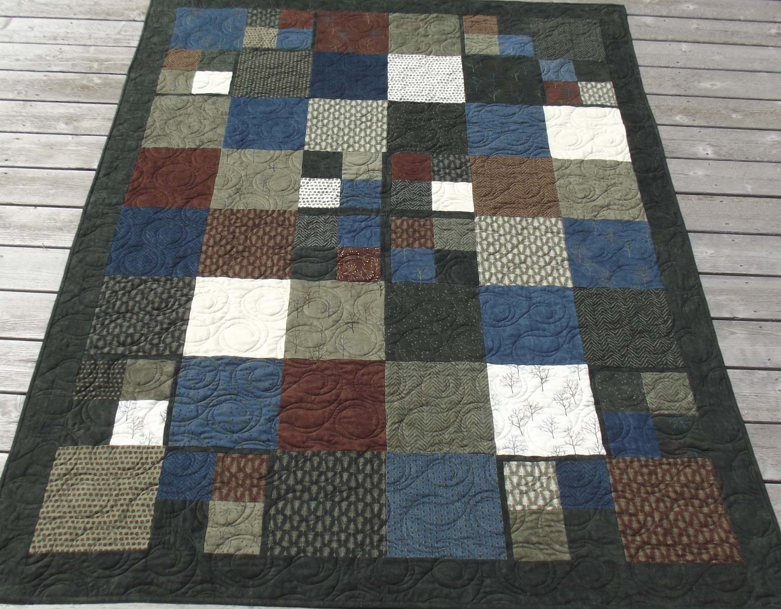 Image of: Dark Flannel Quilt Patterns