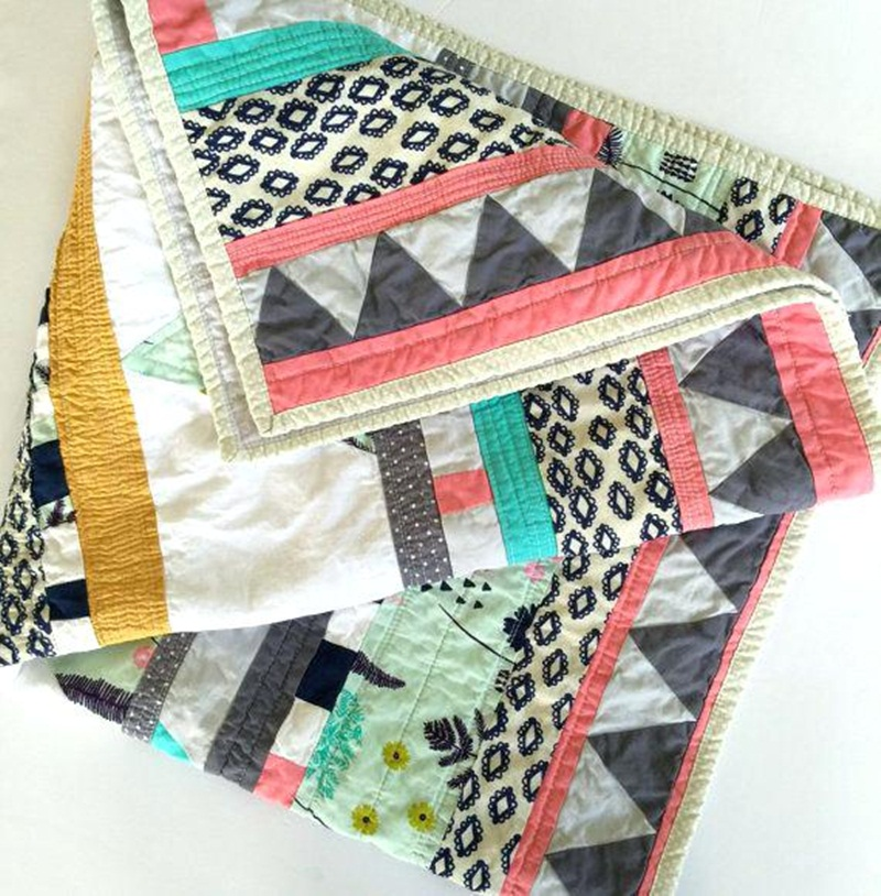 Image of: Design Modern Baby Quilt Patterns