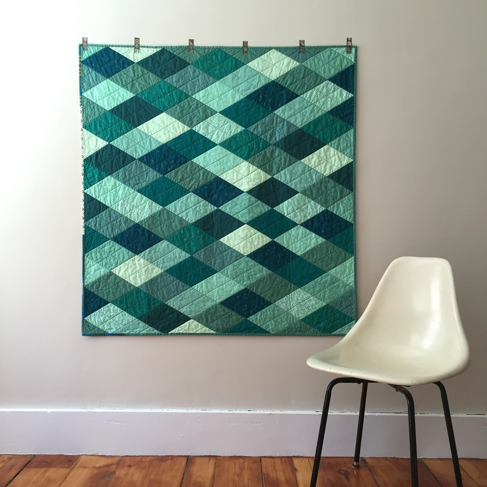 Diamond Quilt Pattern Green