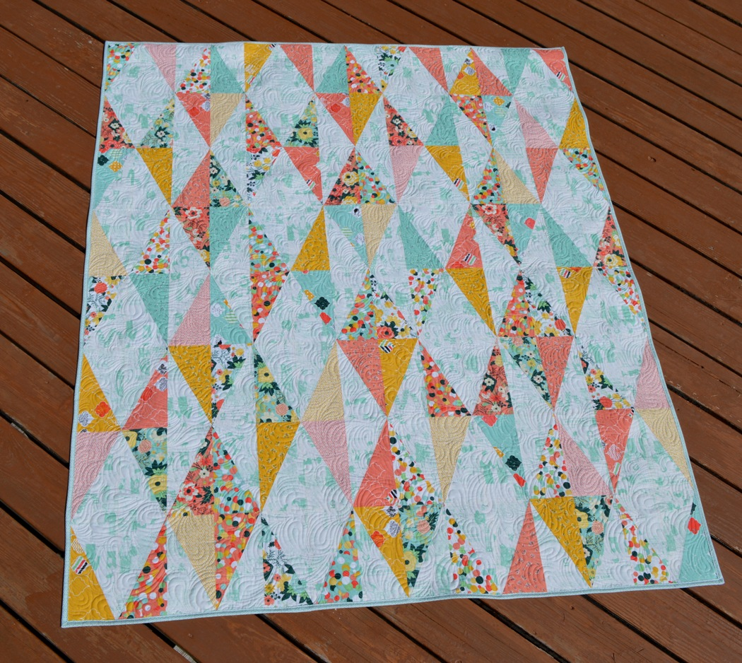 Image of: Diamond Triangle Quilt Patterns