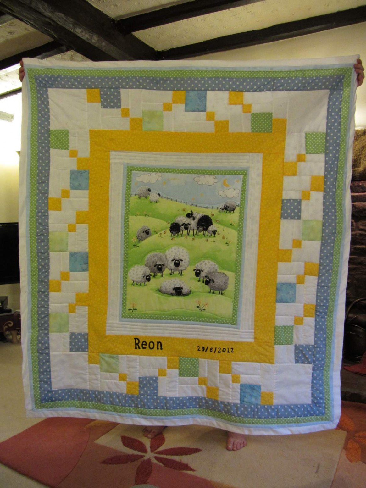 Picture of: Diy Baby Quilt Panels