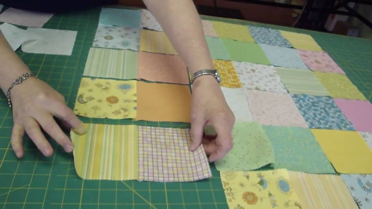 Image of: Diy Charm Pack Baby Quilt