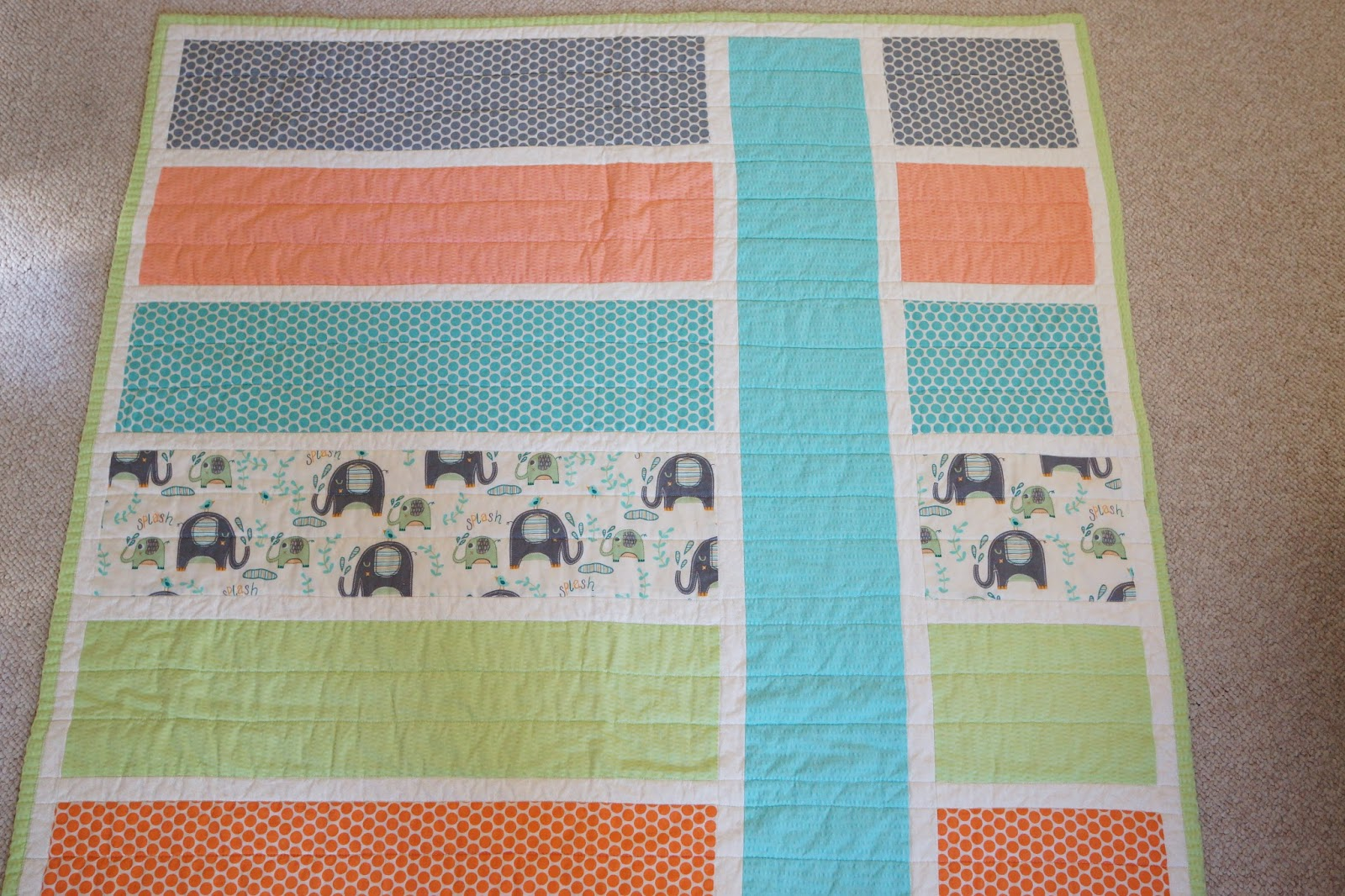 Picture of: Easy Baby Quilt Patterns Colorful