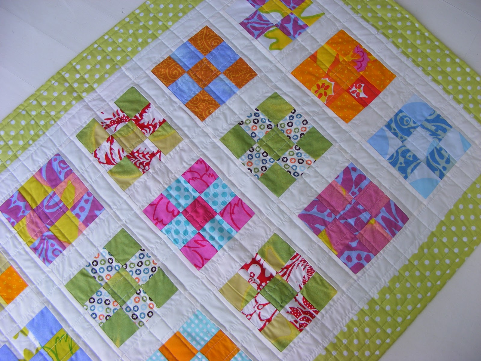 Image of: Easy Baby Quilts Colorful