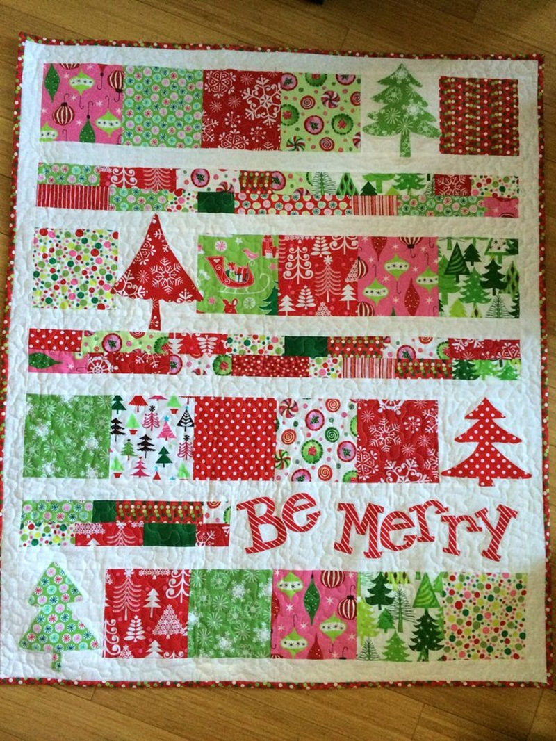 Picture of: Easy Christmas Quilt Patterns