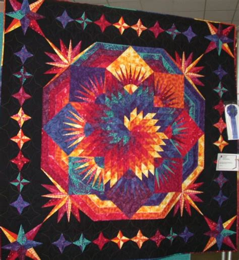 Image of: Elegant Lone Star Quilt Pattern