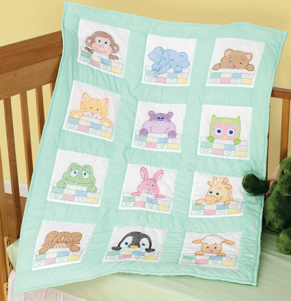 Image of: Embroidered Baby Quilts Animal