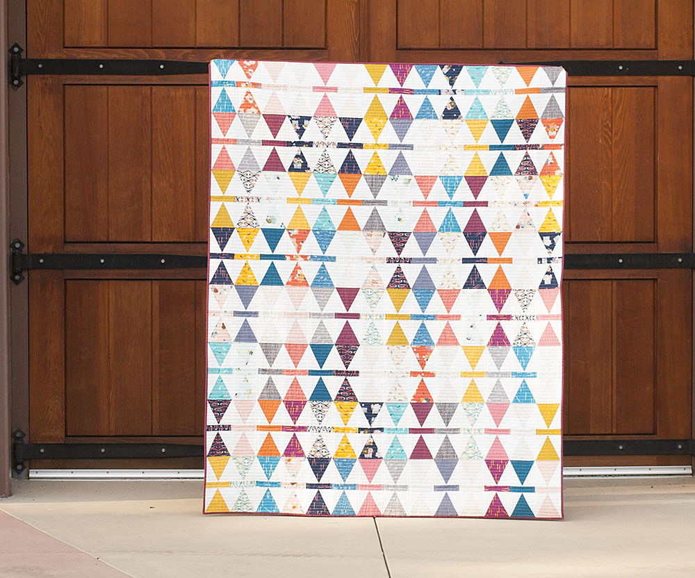 Image of: Equilateral Triangle Quilt Patterns