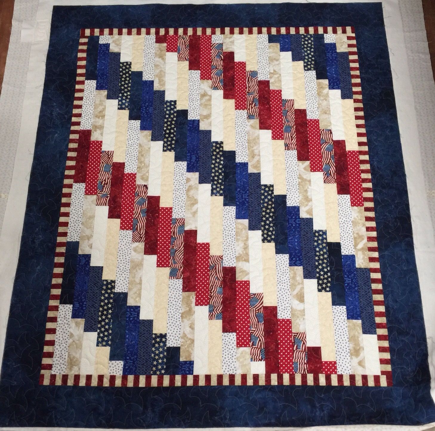 Image of: Finished Patriotic Quilt Patterns