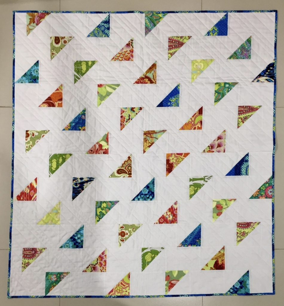 Image of: Flying Triangle Baby Quilt Patterns