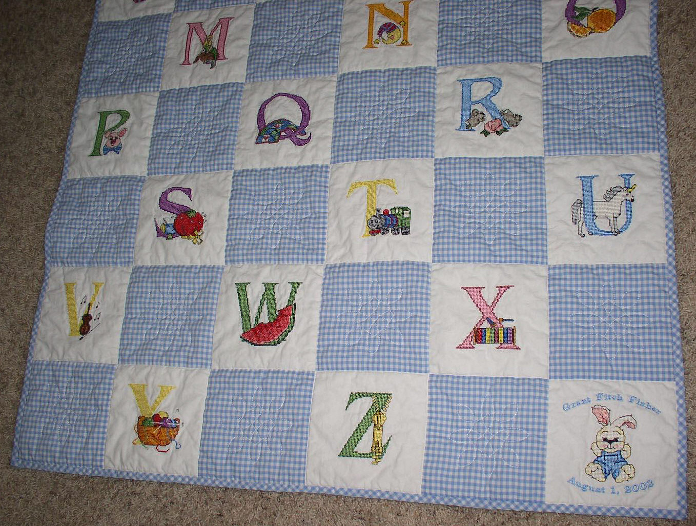 Image of: Free Embroidery Cross Stitch Baby Quilts