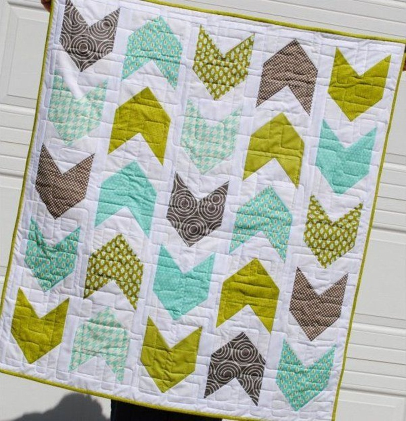 Image of: Free Modern Baby Quilt Patterns