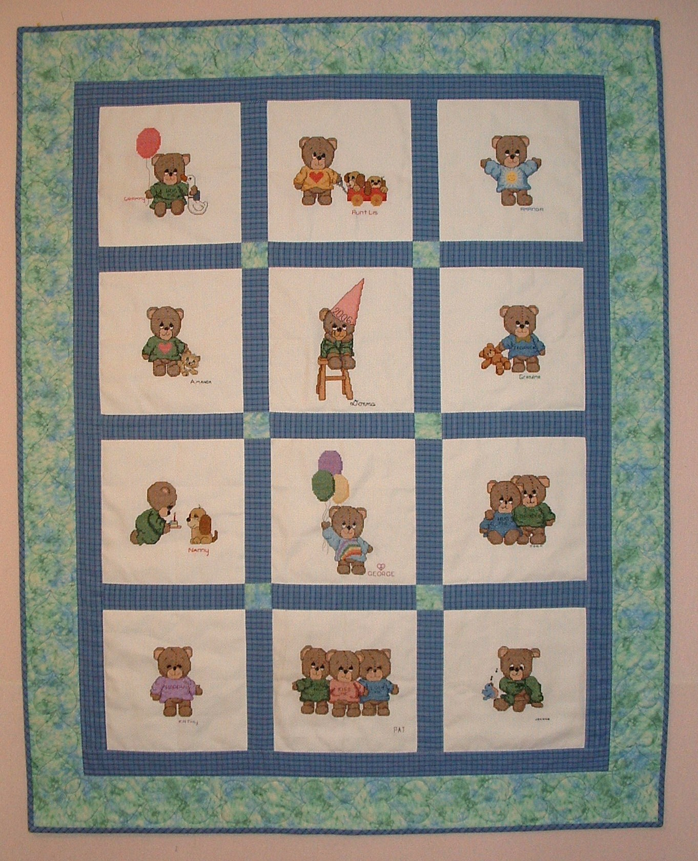 Gibbons Cross Stitch Baby Quilt Kits