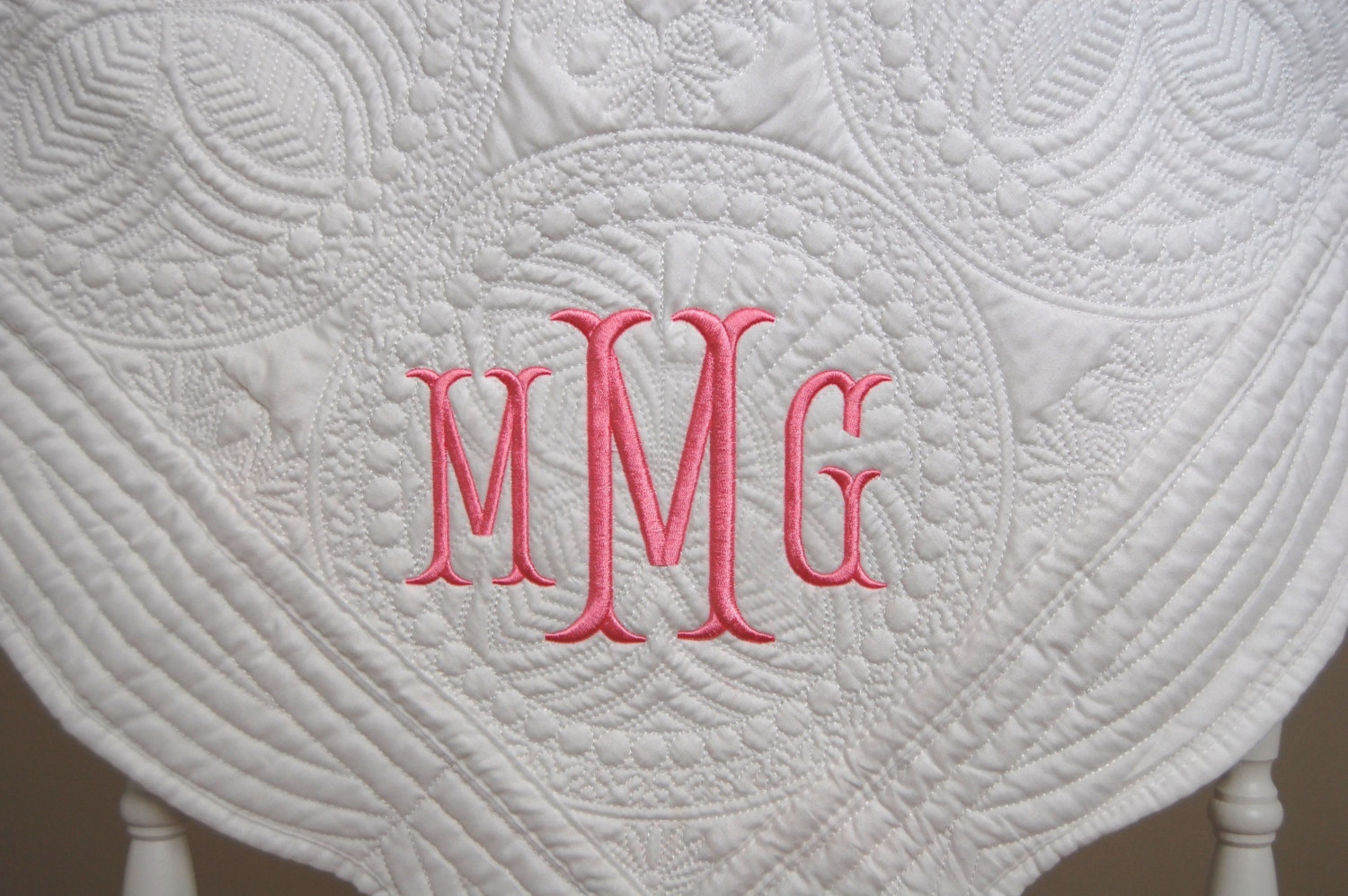Picture of: Gift Monogrammed Baby Quilts