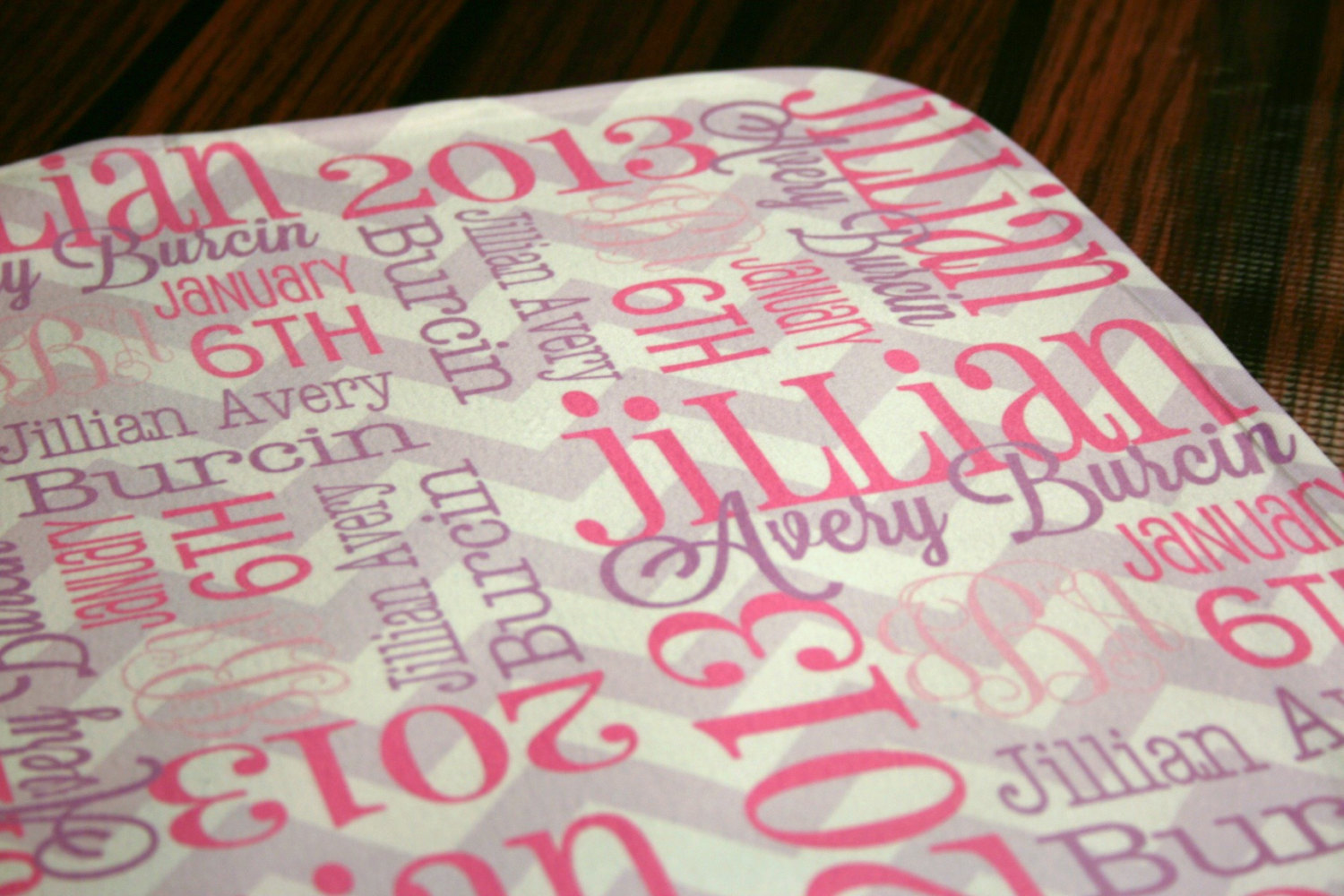 Picture of: Girl Monogrammed Baby Quilts