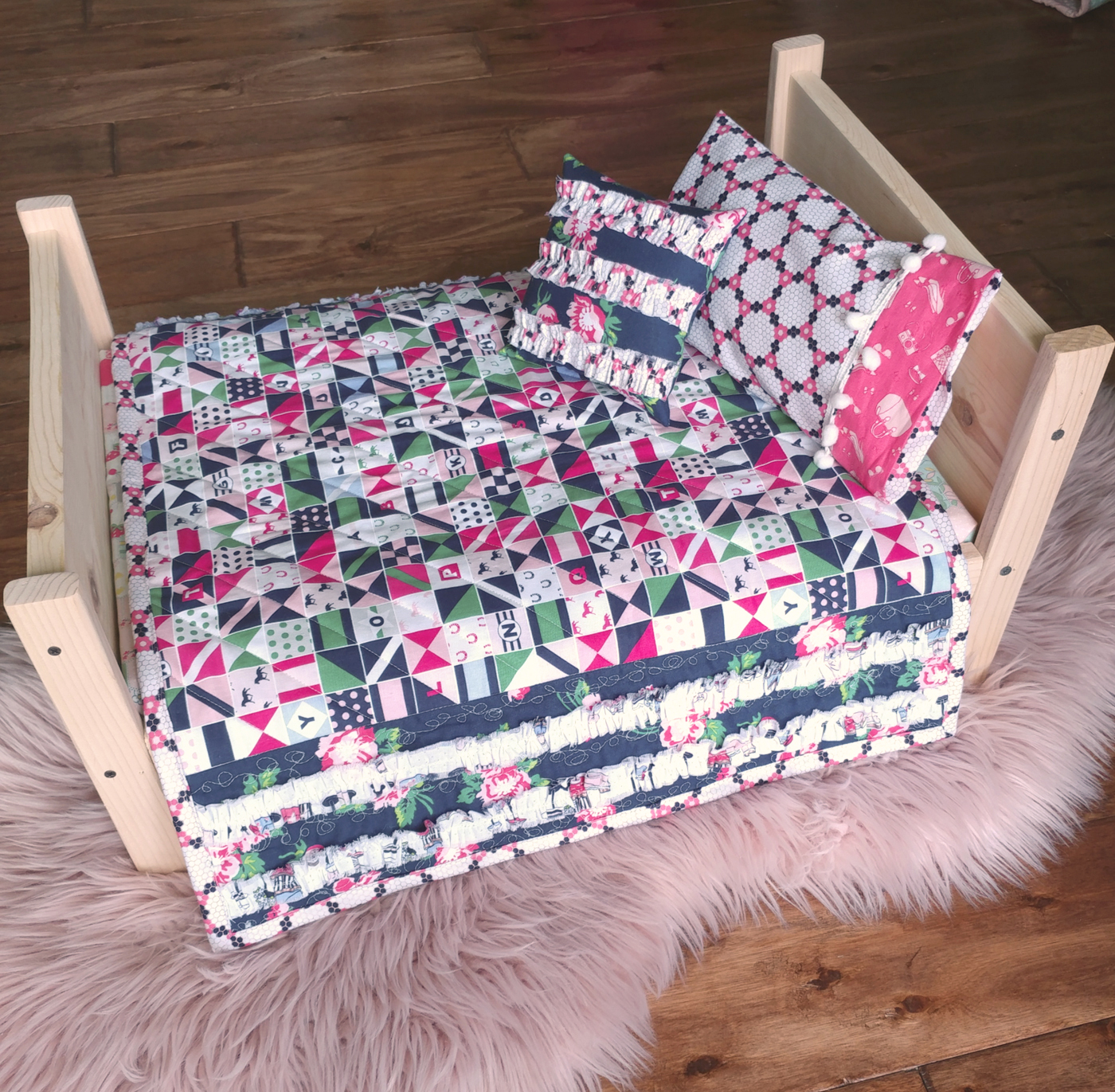 Image of: Girls Baby Quilt Ideas