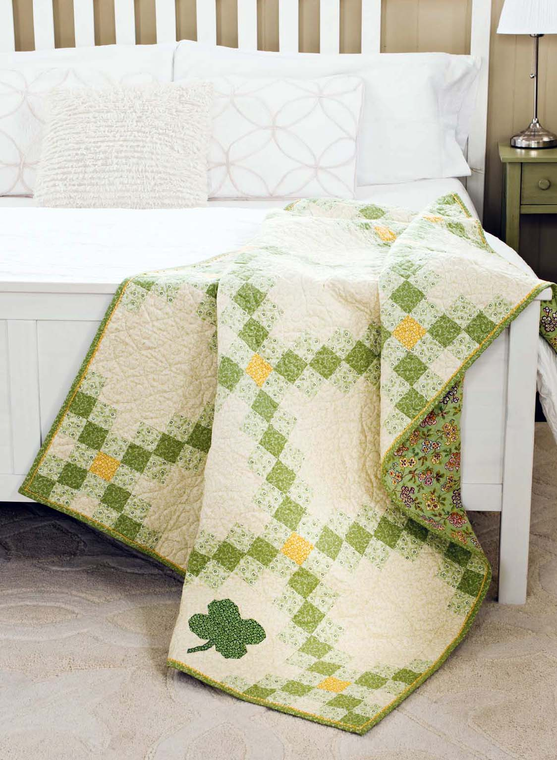 Image of: Green Baby Quilt Ideas