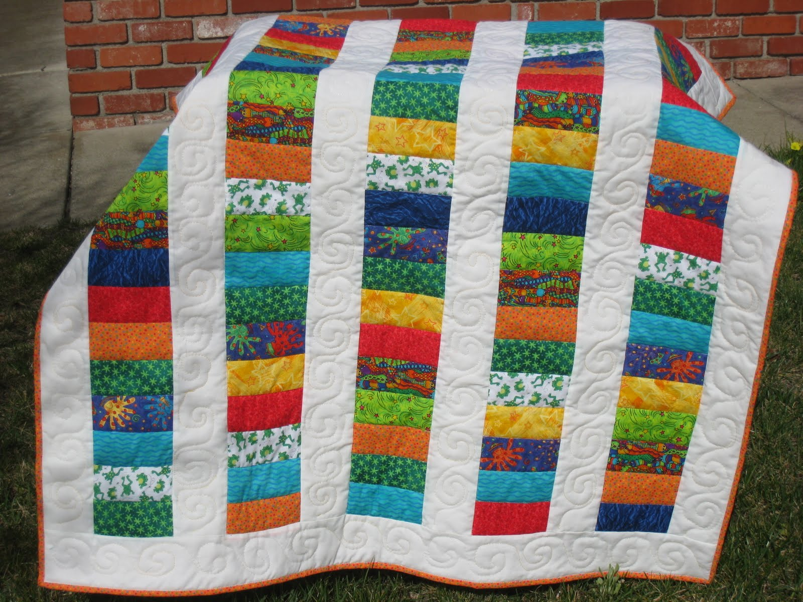 Image of: Handmade Baby Girl Quilts