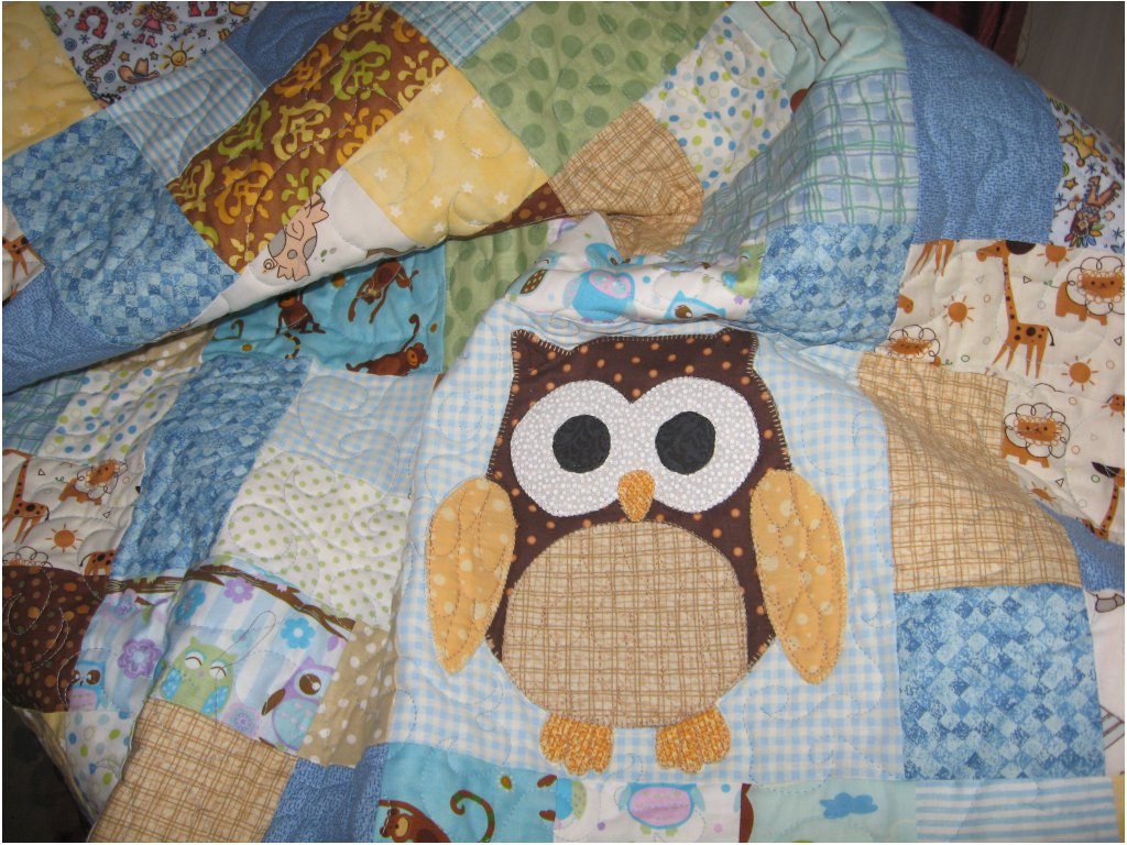 Image of: Handmade Baby Quilts Blue