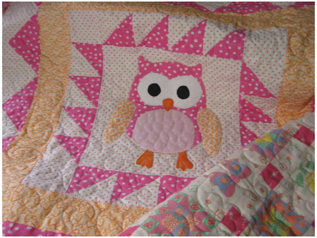 Image of: Handmade Baby Quilts Cutes