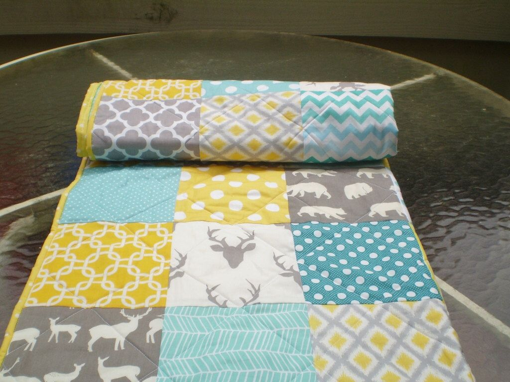 Image of: Handmade Baby Quilts Deer
