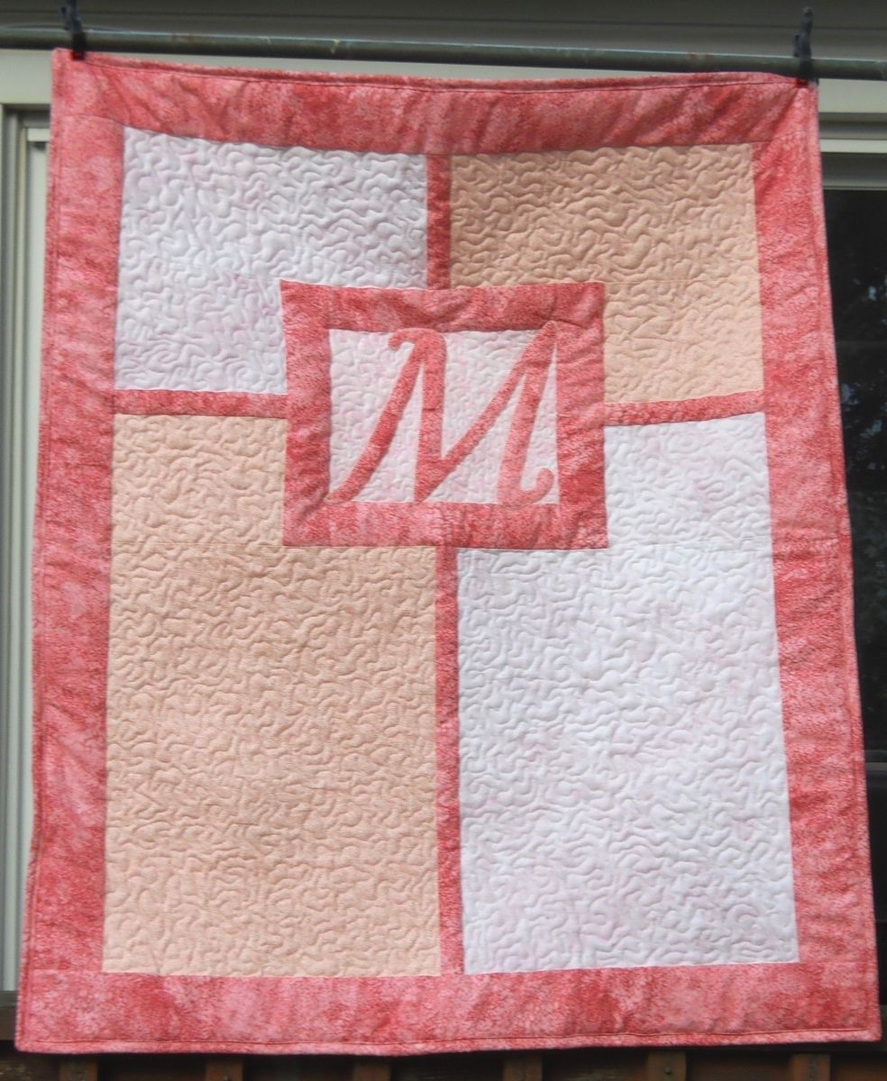 Picture of: Handmade Monogrammed Baby Quilts