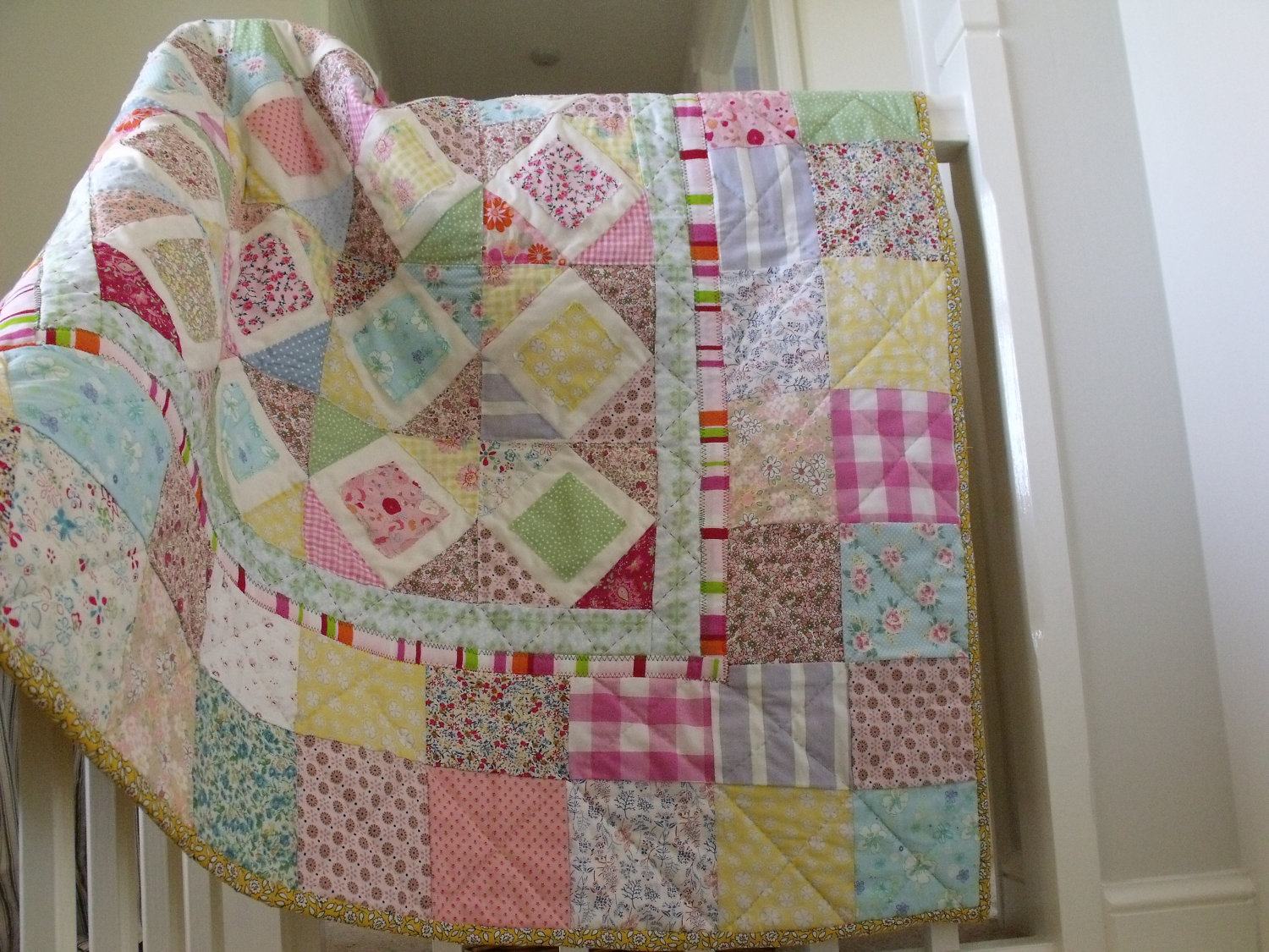 Image of: Handmade Quilted Baby Blanket