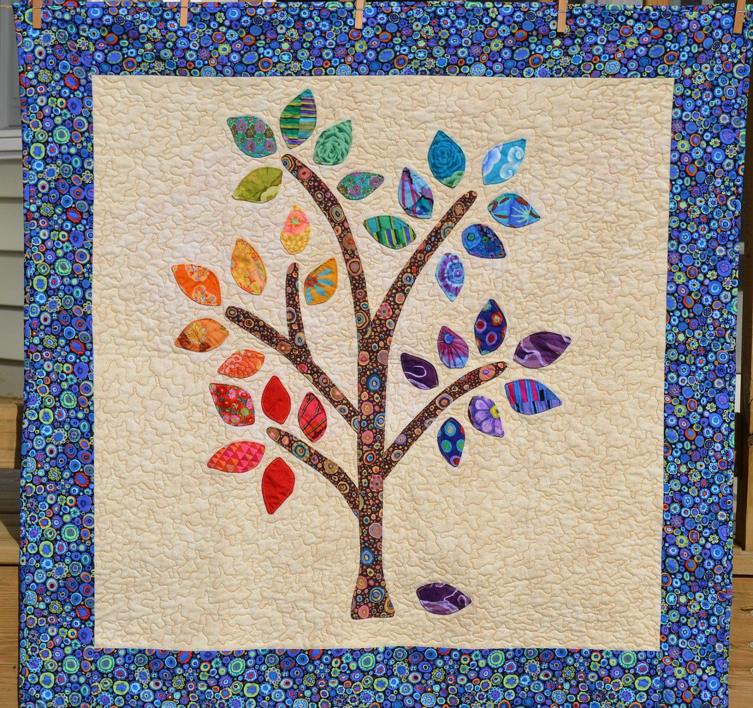 Image of: Happee Tree Quilt Patterns