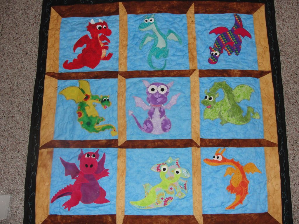 Image of: Harry Potter Baby Quilt Dragon