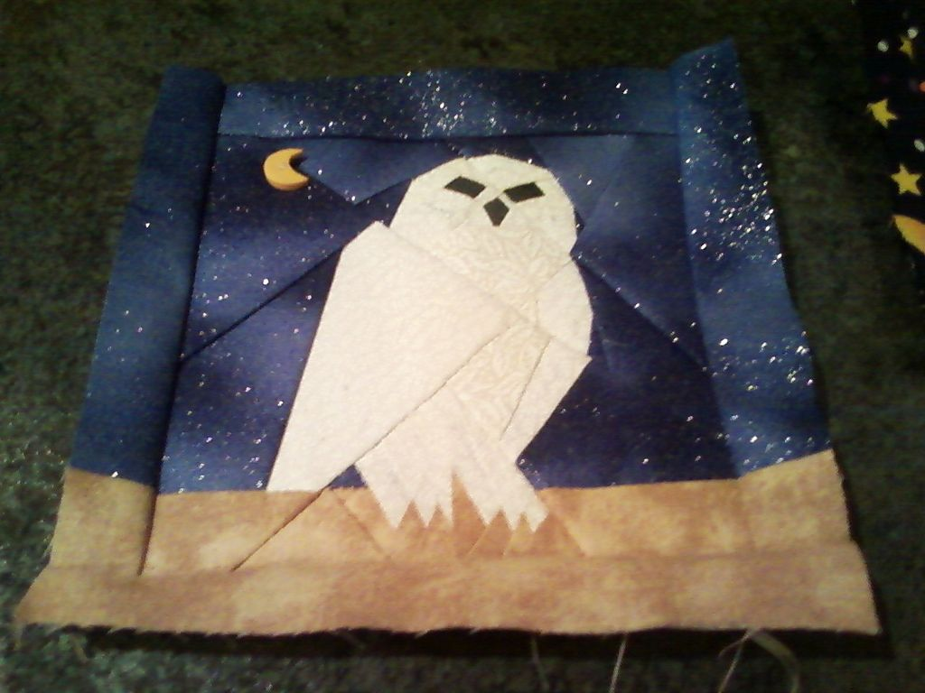 Image of: Harry Potter Baby Quilt Hedwig