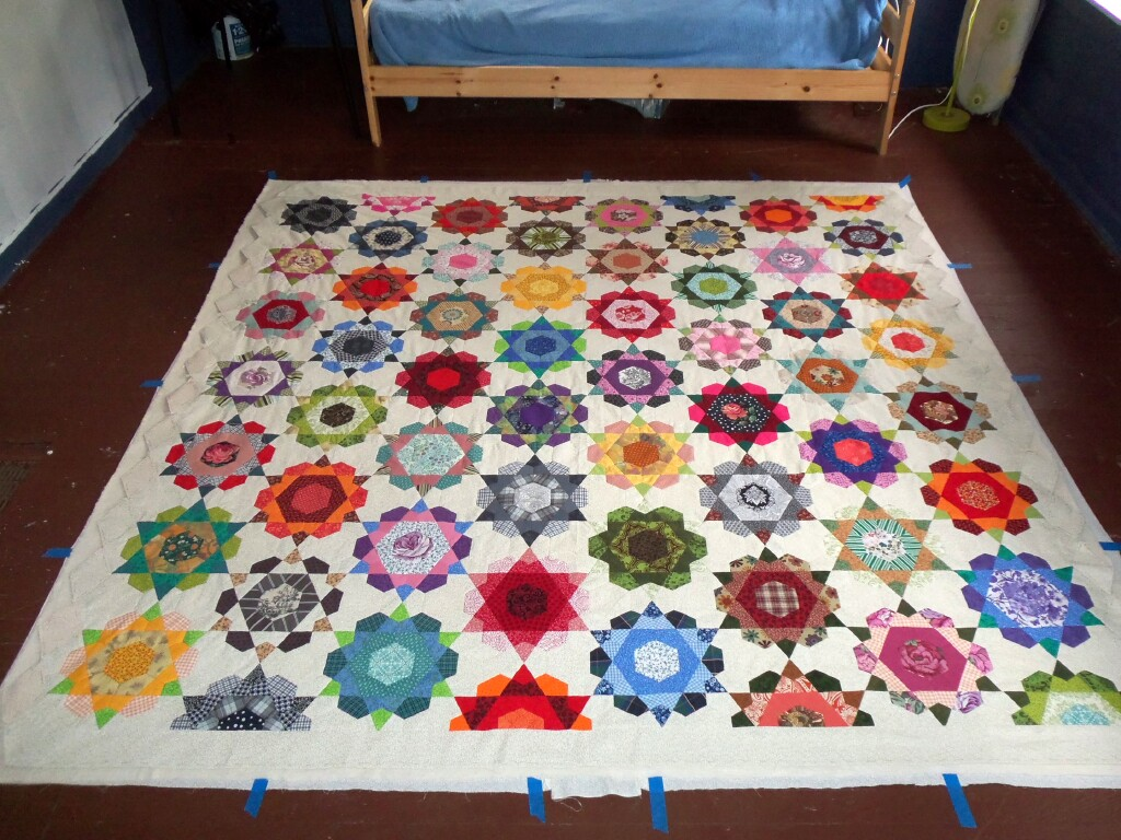 Image of: Harry Potter Baby Quilt Star