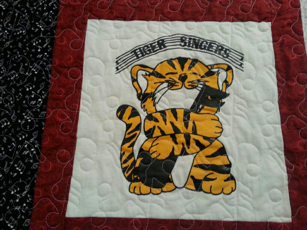 Image of: Harry Potter Baby Quilt Tiger