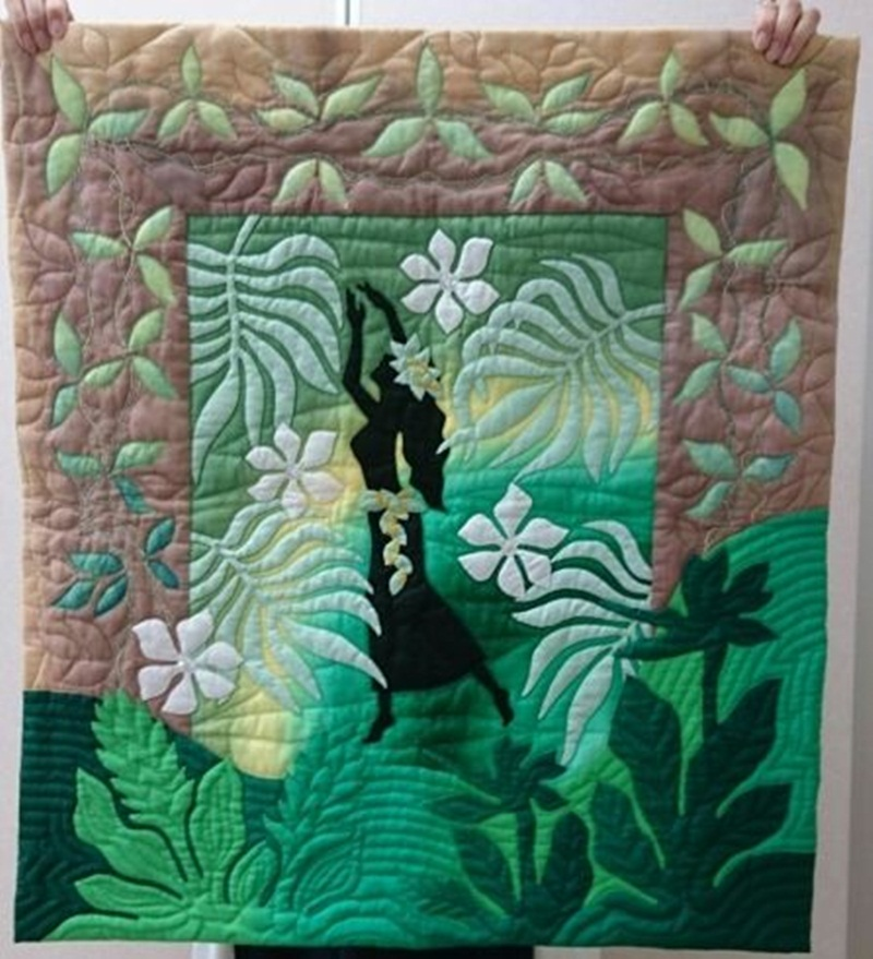 Image of: Hawaiian Quilt Patterns Images