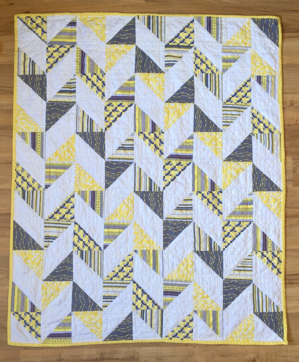 Image of: Herringbone Triangle Quilt Patterns