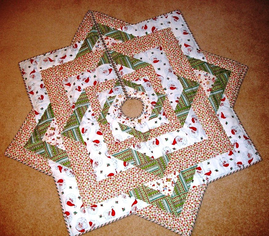 Image of: Holiday Quilted Tree Skirt Pattern