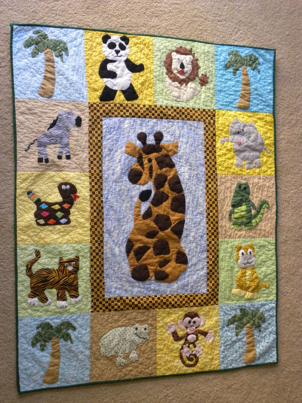 Picture of: Homemade Baby Quilts With Jungle Theme