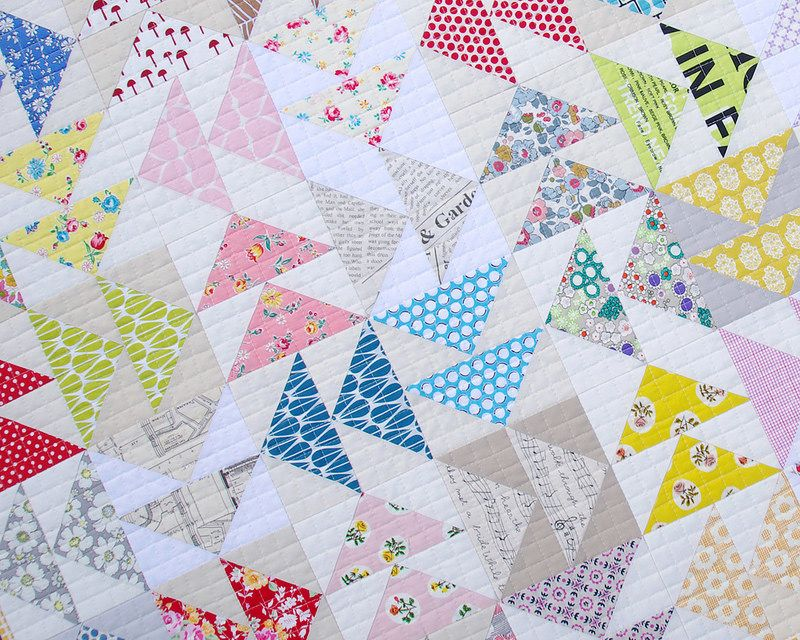 Image of: How to Make A Flying Geese Quilt Pattern
