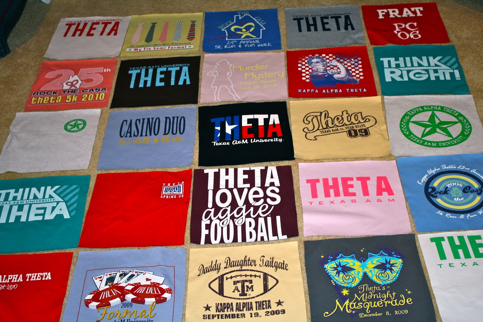 How to make T Shirt Quilt Pattern