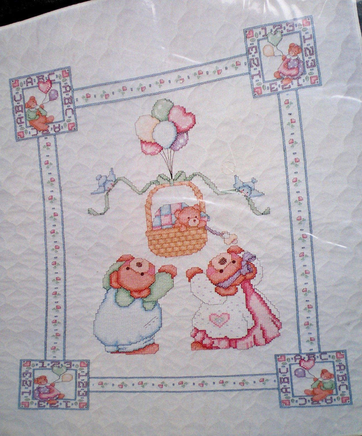 Image of: Janlynn Cross Stitch Baby Quilt Kits