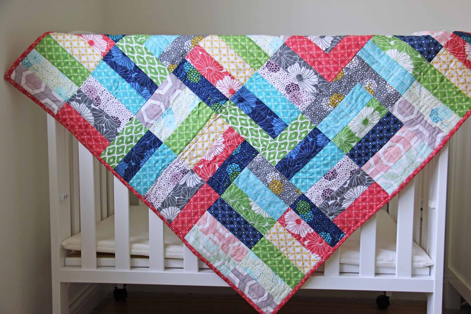 Image of: Jelly Roll Baby Quilt Color