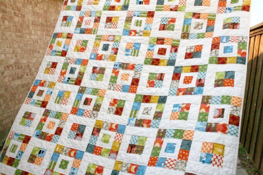 Image of: Jelly Roll Baby Quilt Pattern