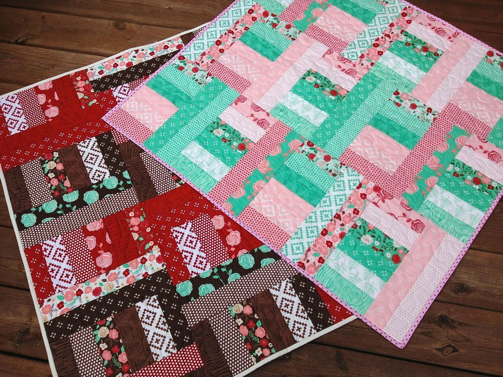 Image of: Jelly Roll Baby Quilt Sample