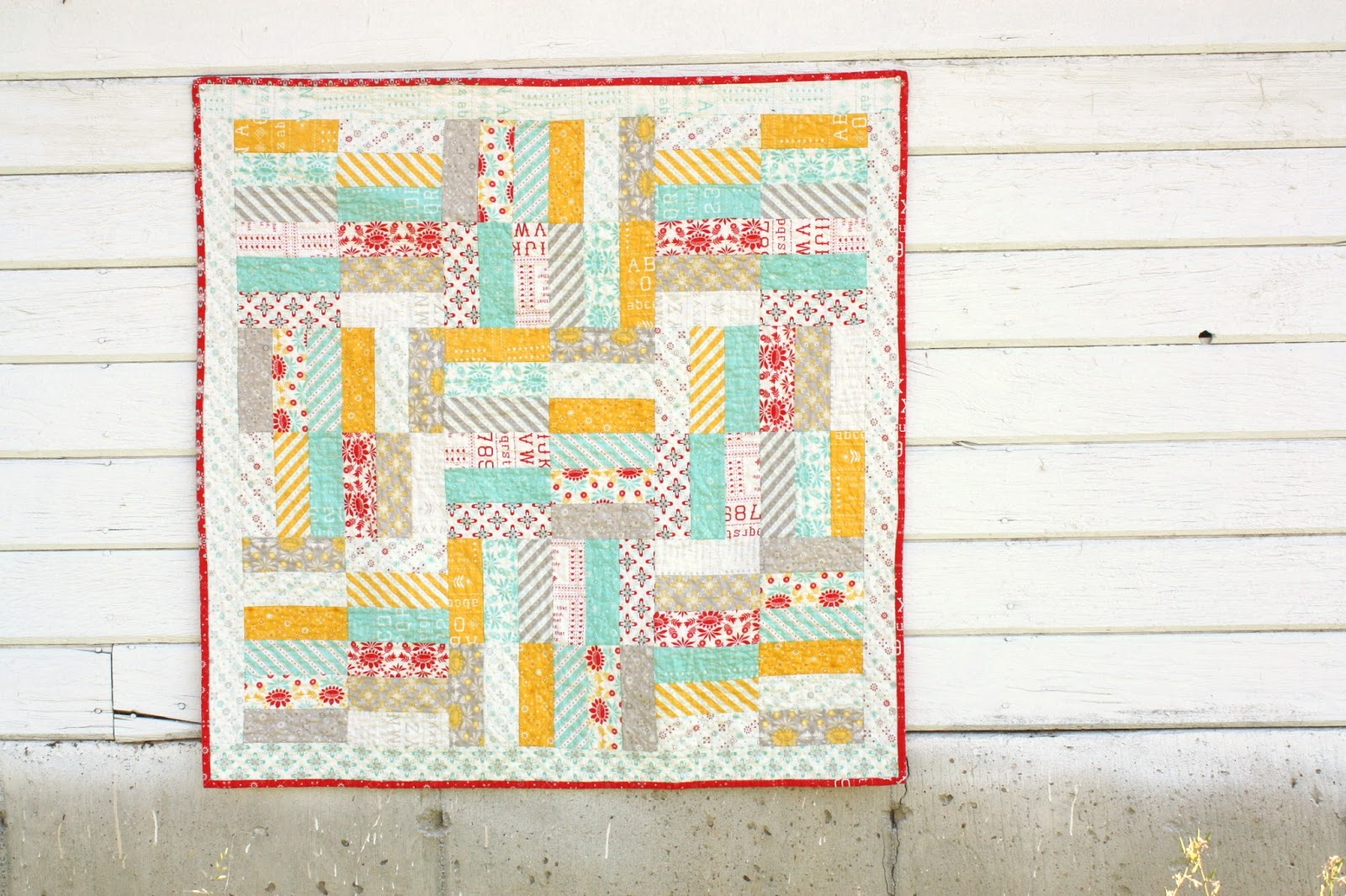 Image of: Jelly Roll Baby Quilt Small Size