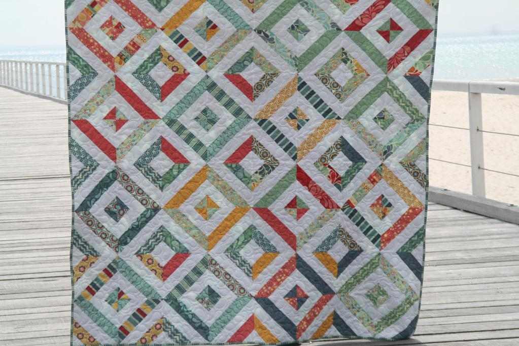 Image of: Jelly Roll Baby Quilt Small