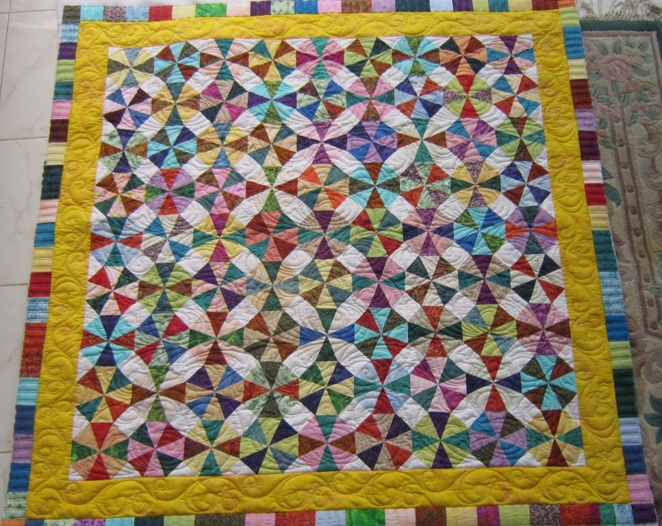 Image of: Kaleidoscope Quilt Pattern Color