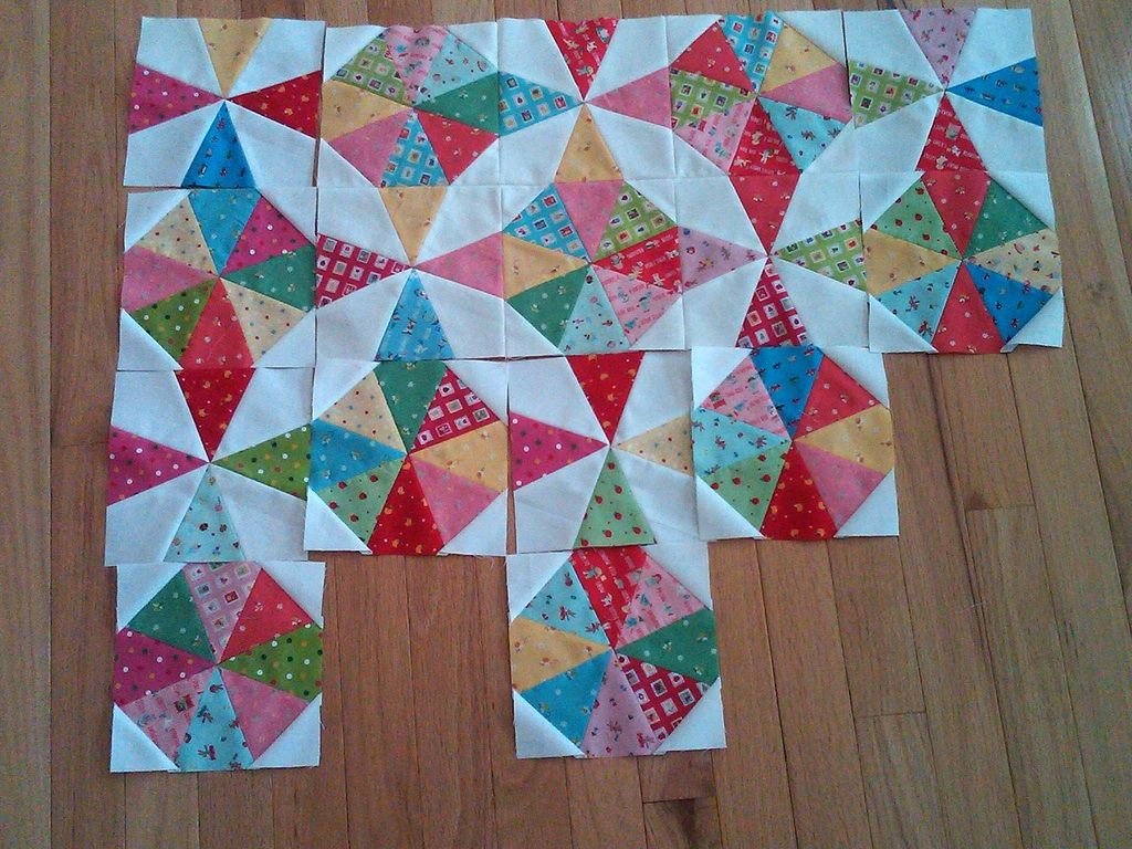 Image of: Kaleidoscope Quilt Pattern Diy